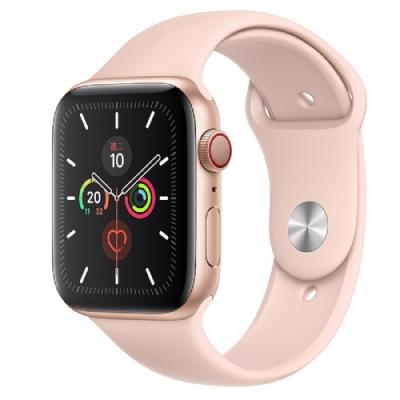 Apple Watch S5 LTE版 44mm金色鋁錶殼粉沙色運動錶帶MWWD2TA