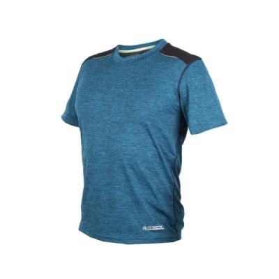 FIRESTAR 男短袖吸排圓領衫-短T T恤 慢跑 路跑 藍灰黑