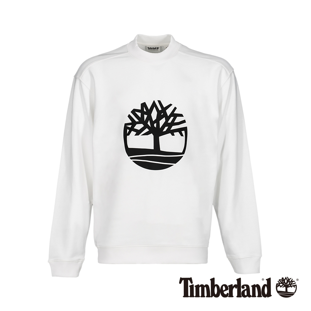 Timberland 男款白色長袖圓領衛衣上衣 A2198