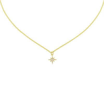 five and two 美國品牌 Kylie流星鑲嵌鋯石 金色項鍊