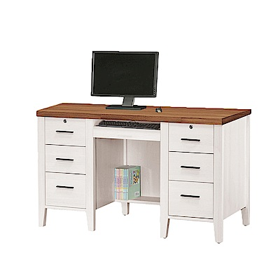 H&D 詩肯雙色4.2尺電腦桌