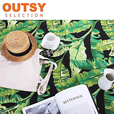 【OUTSY嚴選】限量款輕量印花野餐墊 蕉心夜