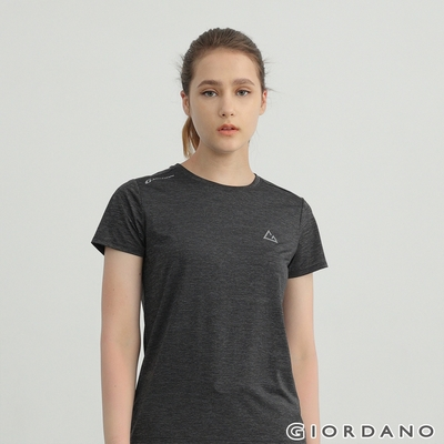 GIORDANO 女裝G-MOTION超輕涼感T恤 - 72 仿段彩深灰