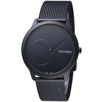 Calvin Klein minimal 大ck 簡約時尚腕錶(K3M514B1)