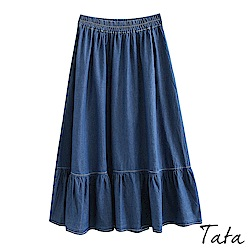 拼接荷葉牛仔裙 TATA