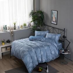 夢工場維縵花葉40支紗萊賽爾天絲四件式兩用被床包組-雙人