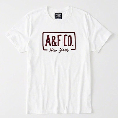 AF a&f Abercrombie & Fitch 短袖 T恤 白 0918