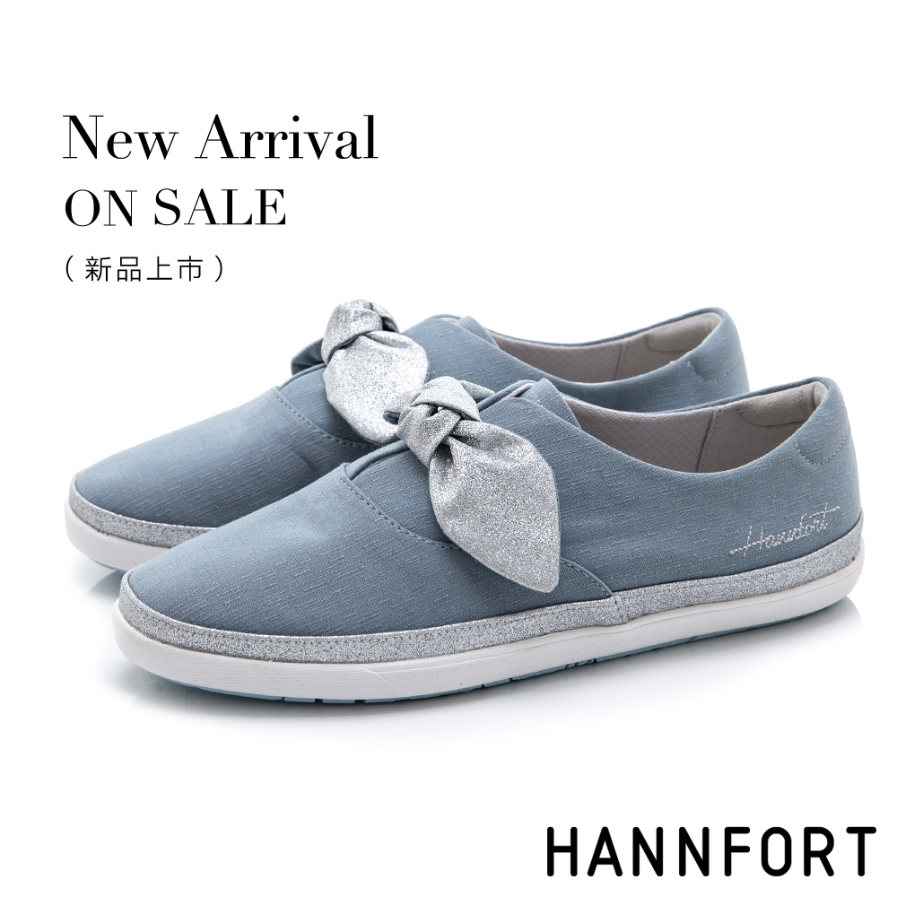 HANNFORT CALIFORNIA金沙扭結丹寧休閒鞋-女-藍(8H)