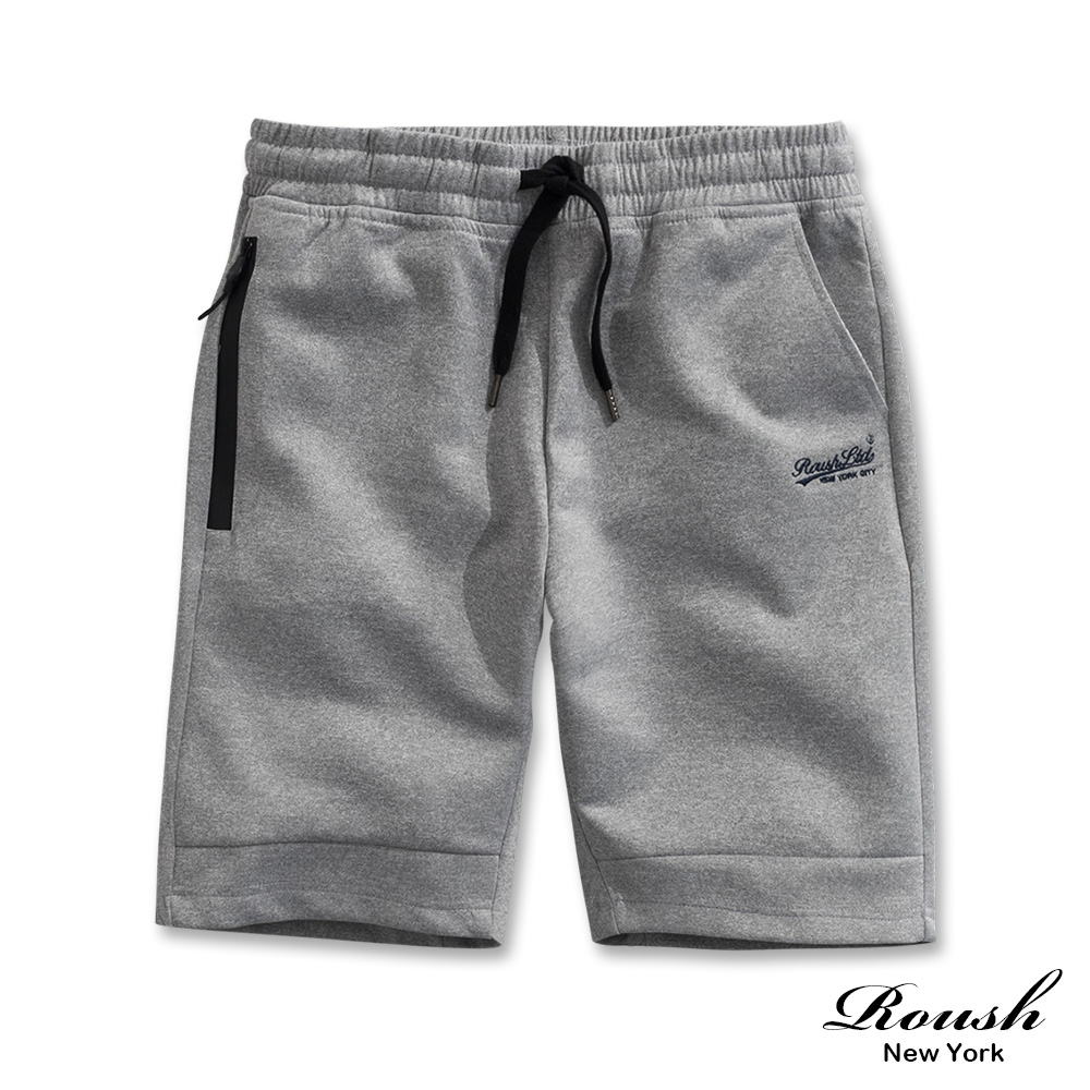 Roush 防水拉鍊設計機能性短棉褲(2色)