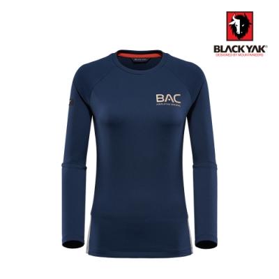 【BLACKYAK】女吸排長袖上衣 [海軍藍]