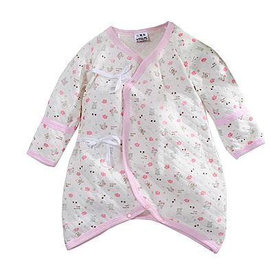 三層棉印花厚款護手蝴蝶衣 k60693 魔法Baby
