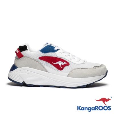 KangaROOS 美國袋鼠鞋 男 BLAZE 都會老爹鞋(白/灰)