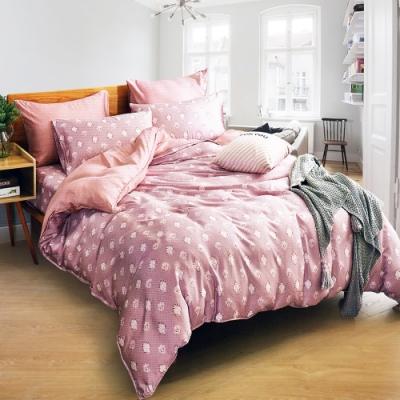 Saint Rose頂級精緻100%天絲兩用被床包組(包覆高度35CM)-濃情魅惑 特大