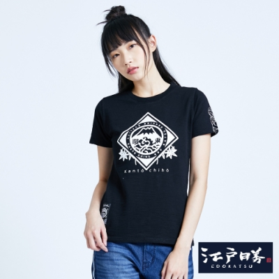 EDO KATSU江戶勝 關東LOGO短袖T恤-女-黑色