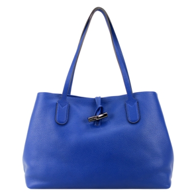 LONGCHAMP ROSEAU ESSENTIAL 竹節托特包(中/鈷藍)