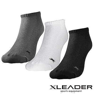 LEADER ST-04 透氣網眼 休閒運動除臭襪短襪 男款 3雙入