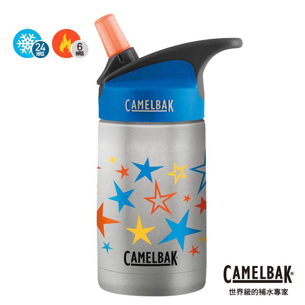 【美國 CamelBak】350ml eddy兒童吸管保冰/溫水瓶 繽紛星星