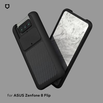 犀牛盾 ASUS Zenfone 8 Flip SolidSuit防摔背蓋手機殼-碳纖維紋路