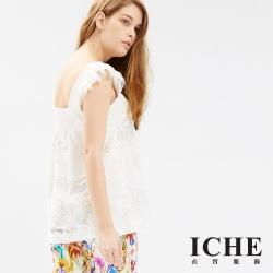 ICHE 衣哲 維甜氣質3D蕾絲雕花造型上衣