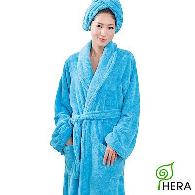 HERA 3M專利瞬吸快乾抗菌超柔纖浴袍-皇家藍