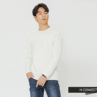 H:CONNECT 韓國品牌 男裝-質感造型針織上衣-米色
