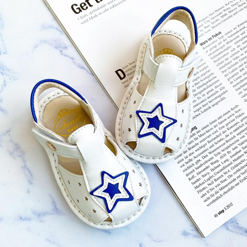 Swan天鵝童鞋-城市星空寶寶涼鞋1600-白