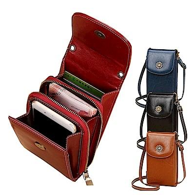 玩皮工坊-真皮油蠟牛皮復古多隔層隨身小包斜肩包手機包女包LB387