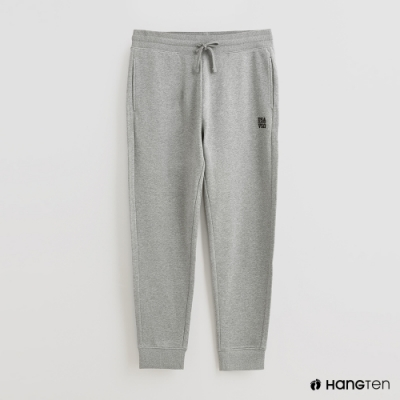 Hang Ten - 男裝 - 腰部鬆緊抽繩純棉運動長褲 - 灰
