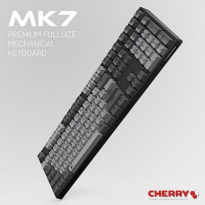 B.Friend MK7R Cherry青軸 PBT 單色白光機械式鍵盤-黑色