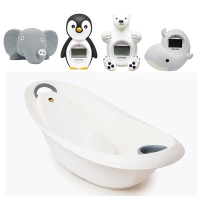 【(丹麥mininor) 】寶寶嬰兒浴盆/澡盆特惠組(浴缸+新生兒浴架+水溫計) 4選一