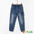 bossini男童-彈性束口牛仔褲02淡藍