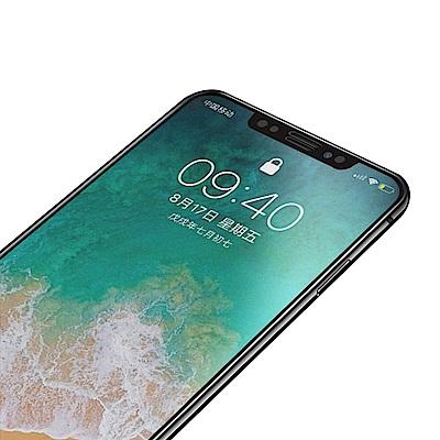 iPhone XS Max 軟邊 碳纖維 霧面 9H  防撞 防摔 保護貼-黑色