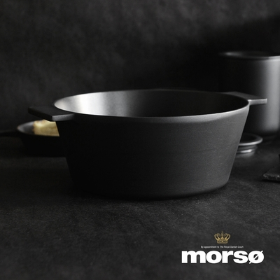 丹麥Morsø 皇家黑爵士雙耳3層不沾鑄鋁湯鍋(3.4L)-24cm