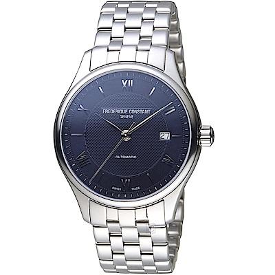 康斯登CONSTANT Classic Index時尚腕錶(FC-303MN5B6B)-藍