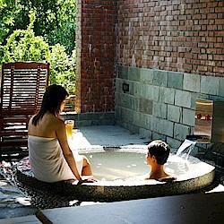 新竹尖石 石上湯屋渡假村 雙人標準湯屋+風味套餐