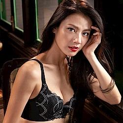 摩奇X-美麗系列挺魔力 C加大尺碼-DEF罩杯調整型內衣(黑)經典熱銷