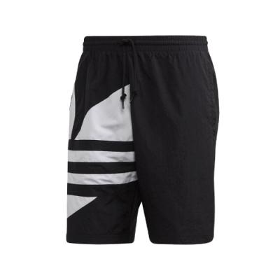 adidas 短褲 Trefoil Track Shorts 男款 愛迪達 三葉草 大LOGO 運動休閒 穿搭 黑 白 FM9900
