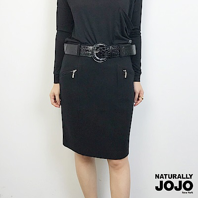 【NATURALLY JOJO】毛呢五分裙(黑)