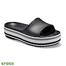 Crocs 卡駱馳 (中性鞋) 厚底卡駱班撞色涼拖 205693-001