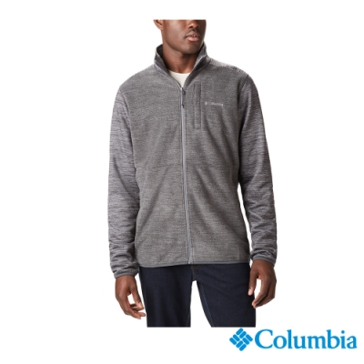 Columbia 哥倫比亞 男款-Omni-HEAT 鋁點保暖刷毛外套-灰色
