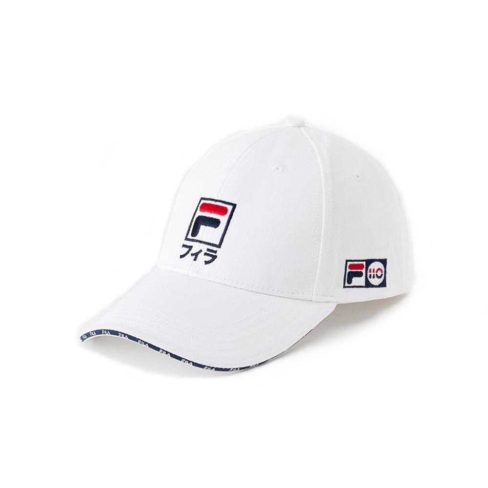 FILA #東京應援 日文LOGO棒球帽-白 HTV-5003-WT