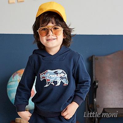 Little moni 迷彩熊連帽上衣(共2色)