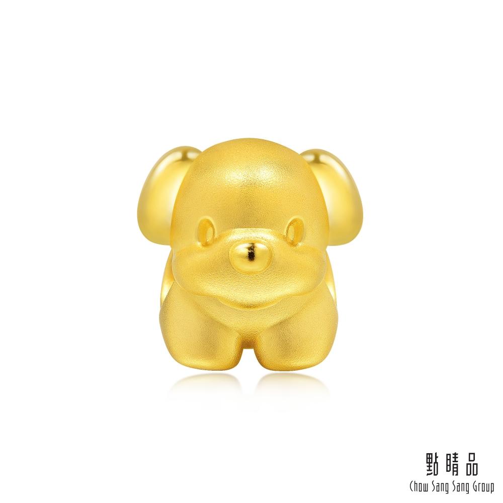 點睛品 Charme 可愛小狗 黃金串珠