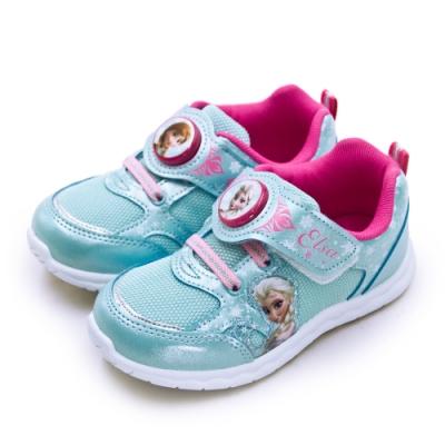 Disney 迪士尼 冰雪奇緣 FROZEN 兒童電燈慢跑鞋 水藍桃 94486
