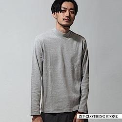 中高領長袖基本TEE(5色) ZIP日本男裝