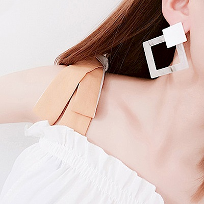 Hera 赫拉 簡約風幾何大理石紋耳環