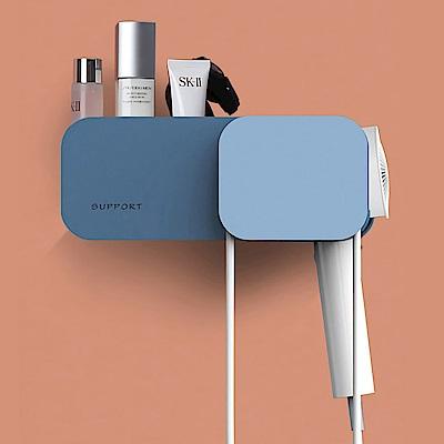 STICK 無痕免打孔 電線收納 吹風機架 吹風機置物架 浴室置物架 透明貼免鑽牆