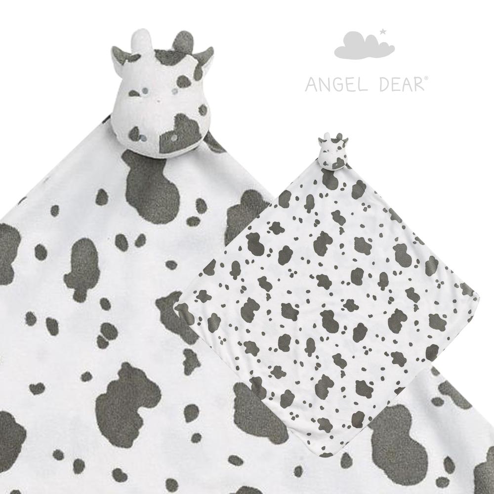 美國 Angel Dear 大頭動物嬰兒毛毯 (小乳牛)