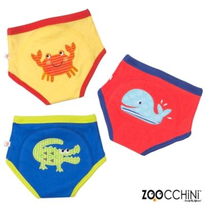 ZOOCCHiNi美國有機棉學習褲3入-海洋系列 男孩款