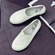 韓國KW美鞋館-波希米亞素色防水輕量平底雨鞋 白